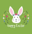 easter with cute white rabbit vector image