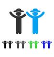 hands up gentlemen flat icon vector image