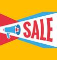 megaphone sale banner flat design vector image
