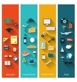 Modern concepts collection in flat design vector image