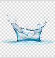 transparent water splash isolated on transparent vector image