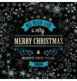 Typographic Retro Christmas Design vector image