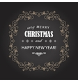 Vintage Christmas frame on chalkboard vector image