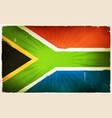 vintage south africa flag poster background vector image