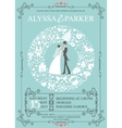 Wedding invitation with wreath compositionBride vector image