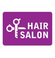 hair salon icon with scissors vector image