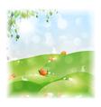 Easter Landscape vector image vector image
