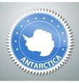 Antarctic flag label vector image vector image
