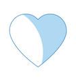 Cartoon heart love romantic symbol vector image