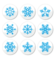 Snowflakes Christmas icons set vector image vector image