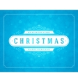 Christmas retro typography and light snowflakes vector image vector image