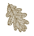 oak leaf isolated on white background vector image vector image