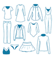 Women s clothes vector image