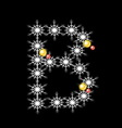 Abstract star B alphabet character vector image