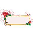 Elegant frame with heart vector image