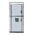 Refrigerator freeze modern stainless steel vector image