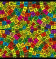 seamless background with round ethnic symbols vector image