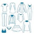 Women s clothes vector image
