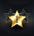 Winner 1st star label design vector image