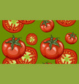 colorful drawing vegetables pattern vector image
