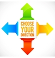 Colorful four directions arrows set vector image vector image