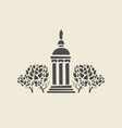 icon of parks old gazebo with columns vector image