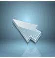 Arrow cursor on gray background vector image