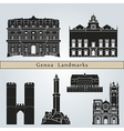 Genoa landmarks and monuments vector image vector image