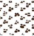 sweet chocolate truffles icons seamless pattern vector image