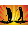 golf silhouette vector image