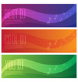banners set of dj and music theme vector image