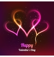 Dark background with 3 glowing hearts for my vector image