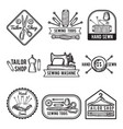 black labels set for sewing shop fashion vector image