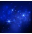 Bokeh deep blue background vector image