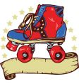 disco roller boot banner illustration vector image