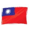 Grunge Taiwan flag vector image