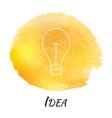 Idea Light Bulb Lamp Watercolor Concept vector image