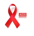 Pink awareness ribbon vector image