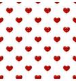 red heart shaped lollipop pattern vector image