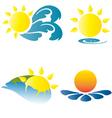 summer logo logos icons holidays vacation sun vector image