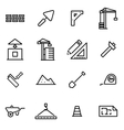 Thin line icons - vector image