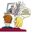 watching digital television vector image