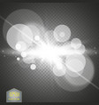 white glowing light burst explosion with vector image