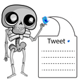 Skeleton with label vector image