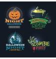 set of halloween badges vector image