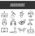 Robotic icon set vector image