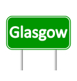 Glasgow road sign vector image