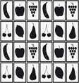 Set of fruits silhouettes vector image vector image