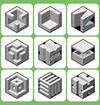 Cube icon set 3 vector image