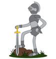 Knight cartoon vector image